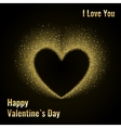 Happy Valentines Day Card with Gold Glittering vector image vector image
