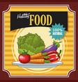 healthy food poster vector image vector image