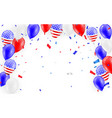holidays card design american flag balloons with vector image vector image