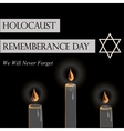 Holocaust Remembrance Day vector image vector image
