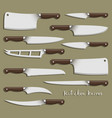 kitchen knife weapon steel vector image vector image