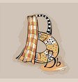 letter b stylized alphabet light textile vector image