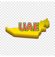 map of uae icon cartoon style vector image vector image