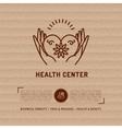 Medical Center Health Card beauty salon vector image
