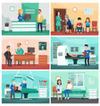 medical hospital clinical care emergency nurse vector image