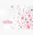 merry christmas decorative element design vector image