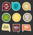 modern sale stickers and tags collection 6 vector image vector image
