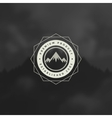 Mountain Design Element in Vintage Style for vector image