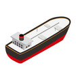 Oil tanker isometric 3d icon vector image vector image