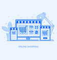 online shopping digital store concept vector image