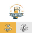 original vintage craft beer logo template for vector image