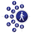 People Buttons vector image vector image