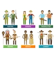 people logo design template farmer hunter vector image vector image