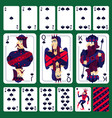 poker playing cards spade suit set vector image