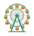 realistic detailed 3d ferris wheel attraction vector image vector image