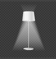 realistic detailed 3d illuminated floor lamp vector image vector image