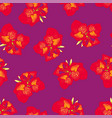 red canna lily on purple background vector image vector image