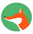 red fox with closed eyes on white background vector image vector image
