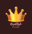 royal crown award for winner leadership champion vector image vector image