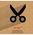 Scissors Flat modern web design on a flat vector image