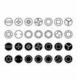 screw heads types vector image