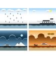 Sea themes vector image
