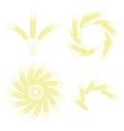Set of Wheats Frames vector image vector image