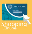 shopping online with credit card vector image vector image