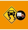 slippery traffic sign concept vector image