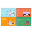 smart house flat concept vector image vector image