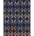 Style Seamless Knitted Pattern vector image vector image