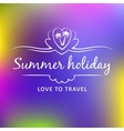 Summer weekend logo vector image vector image