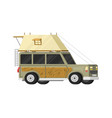 trailers or family rv camping caravan tourist bus vector image