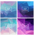 triangle backgrounds vector image vector image