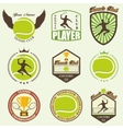 various stylized tennis icons vector image vector image