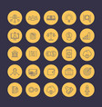 venture capital line icons set vector image vector image
