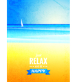vintage poster with sea landscape vector image vector image