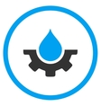 Water Service Rounded Icon vector image