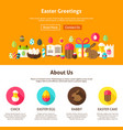 web design easter greeting vector image vector image