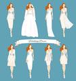 Wedding draw dresses set Bridal vector image vector image