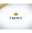 Crown shape logo icon King leader boss vector image
