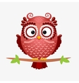 owl brown vector image