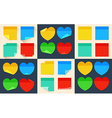 Big set of isolated stickers in flat style vector image