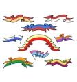 Cartoon colorful ribbons set vector image