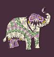 elephant mandala boho style vector image