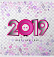 2019 happy new year 3d numbers for calendar vector image vector image