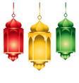3d eid mubarak transparent background vector image vector image