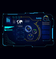 abstract hud ui gui future futuristic screen vector image vector image