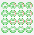 Abstract set of timers - green timer icons vector image vector image