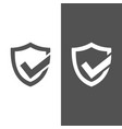 active protection shield icon on black and white vector image vector image
